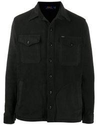 Polo Ralph Lauren Black Flap Pocket Shirt Jacket for men