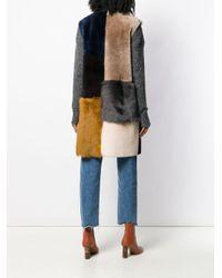 Liska カラーブロック ノースリーブ コート Multicolor