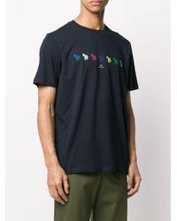 メンズ PS by Paul Smith ゼブラプリント Tシャツ Blue