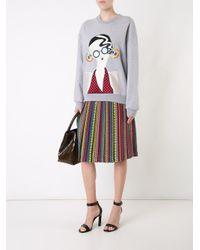 Holly Fulton - Gray Lady Patch Sweatshirt - Lyst