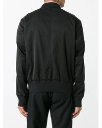 Lanvin Black Classic Bomber Jacket for men