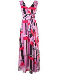 Vestito lungo a righe di Natori in Pink