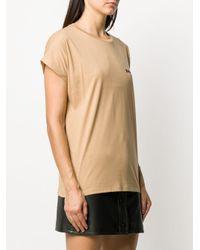 Camiseta con logo de manga corta Balmain de color Brown