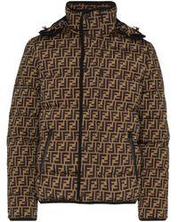 Doudoune à motif monogrammé Fendi pour homme en coloris Brown