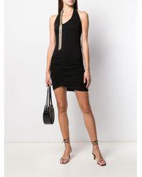 Vestido fruncido Patrizia Pepe de color Black