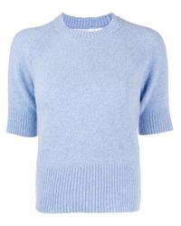 Top a maniche corte di Victoria Beckham in Blue