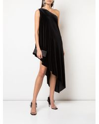 Robe mi-longue à design asymétrique Norma Kamali en coloris Black
