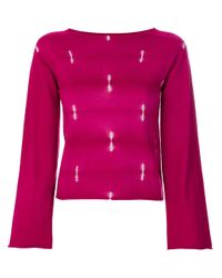 Suzusan フレア セーター Pink