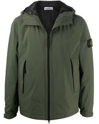 Куртка С Капюшоном И Нашивкой-логотипом Stone Island для него, цвет: Green