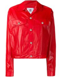 Adidas Red Buttoned Jacket