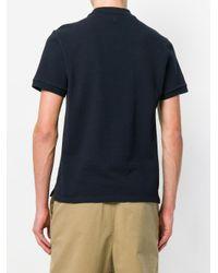 メンズ AMI スマイリー パッチ ポロシャツ Blue