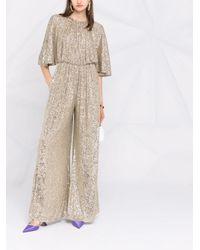 Pinko Metallic Sequin-embellished Jumpsuit