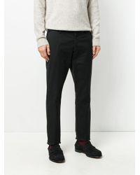 Al Duca D'aosta Black Classic Fitted Trousers for men
