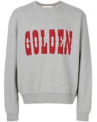 メンズ Golden Goose Deluxe Brand プリント スウェットシャツ Gray