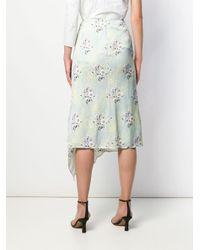 Floral Print Draped Skirt Self-Portrait, цвет: Multicolor