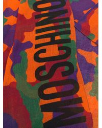 Moschino | Multicolor Camouflage Logo Scarf | Lyst