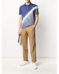 Altea Blue Tie Dye Print Polo Shirt for men
