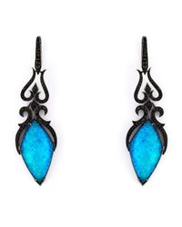 Stephen Webster Black 'crystal Haze' Diamond Long Earrings