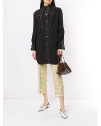 Chemise longue à coutures contrastantes Rejina Pyo en coloris Black