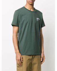 メンズ Affix ロゴ Tシャツ Green