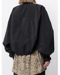 Adidas Black Oversized Bomber Jacket