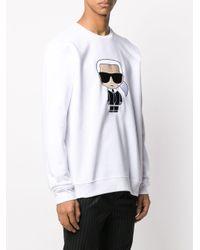 メンズ Karl Lagerfeld プリント スウェットシャツ White