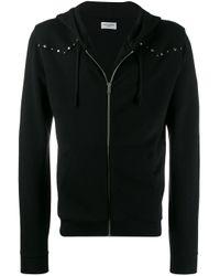 Декорированное Худи На Молнии Saint Laurent для него, цвет: Black