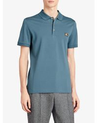 Burberry - Blue Slim-fit Polo Shirt for Men - Lyst