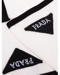 メンズ Prada ロゴ靴下 Multicolor