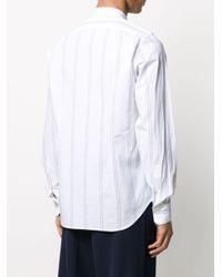 メンズ Eleventy ストライプ シャツ White