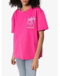 CHARLES JEFFREY LOVERBOY Art Gallery Tシャツ Pink