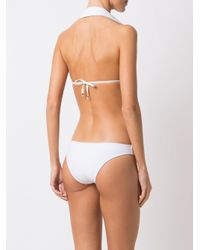 Amir Slama White Triangle Bikini Set