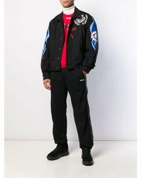 Chaqueta vaquera United estampada MSGM de hombre de color Black