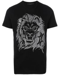 Billionaire Black Studded T-shirt for men