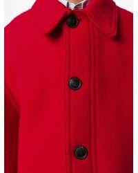 メンズ AMI オーバーサイズコート Red