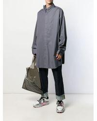 メンズ Maison Margiela オーバーサイズ シャツ Gray