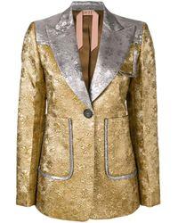 N°21 Metallic Contrast Embroidered Blazer