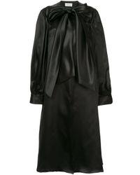 Coatdress with poet sleeves Isabel Sanchis en coloris Black