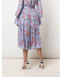 Carolina Herrera フローラル スカート Purple