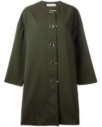 Marni - Green Duster Coat - Lyst