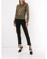 Dolce & Gabbana アイレット パンツ Black