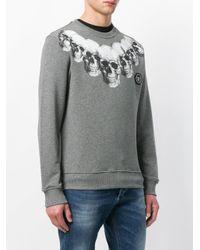 Philipp Plein Gray Multi Skull Print Sweatshirt for men
