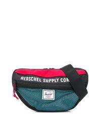 メンズ Herschel Supply Co. ロゴパッチ ベルトバッグ Multicolor