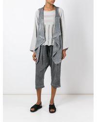 Lost and Found Rooms Gray Asymmetric Hem Waistcoat