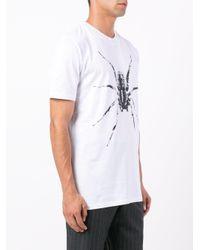 Lanvin White Spider Print T-shirt for men