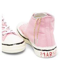 Marni ハイカット スニーカー Pink