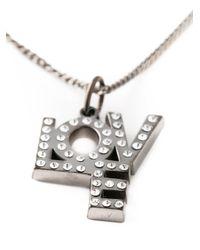 Saint Laurent - Metallic 'love' Necklace - Lyst