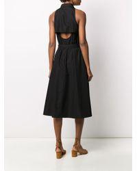 Vestido camisero sin mangas Aspesi de color Black