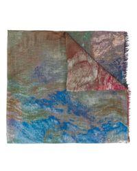 Faliero Sarti Confusion アブストラクトパターン スカーフ Multicolor