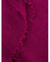 Faliero Sarti フレイド スカーフ Purple